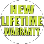 New Lifetime Warranty